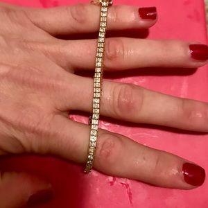 14kt diamond tennis bracelet 2 karat diamonds